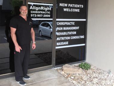 Dr. Zinovy Chukhman outside AlignRight Chiropractic