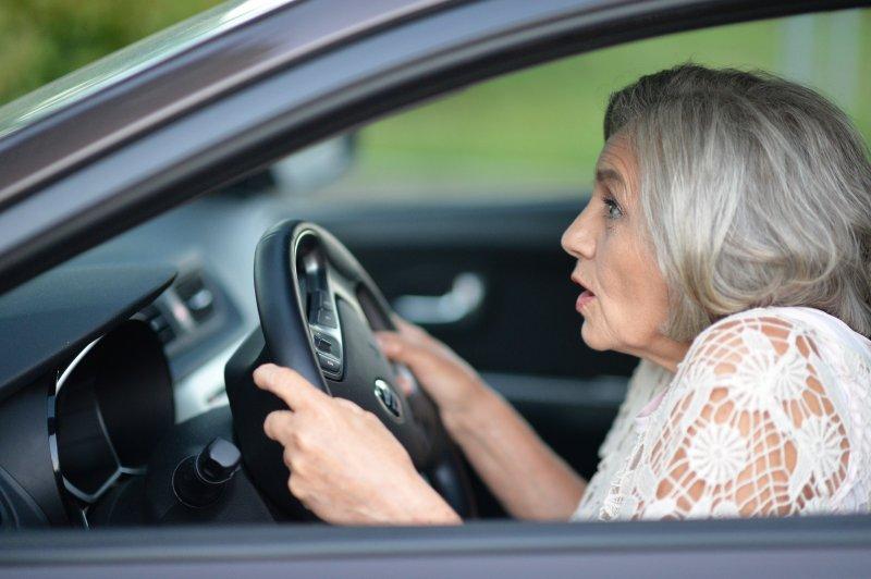 frightened older driver