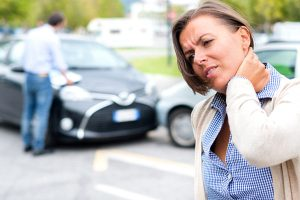 woman neck pain car accident