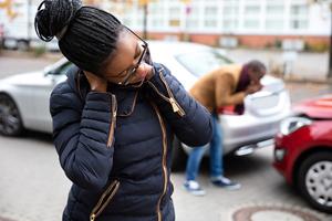 woman neck pain accident