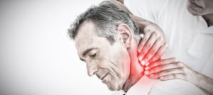 chiropractor massage man's neck